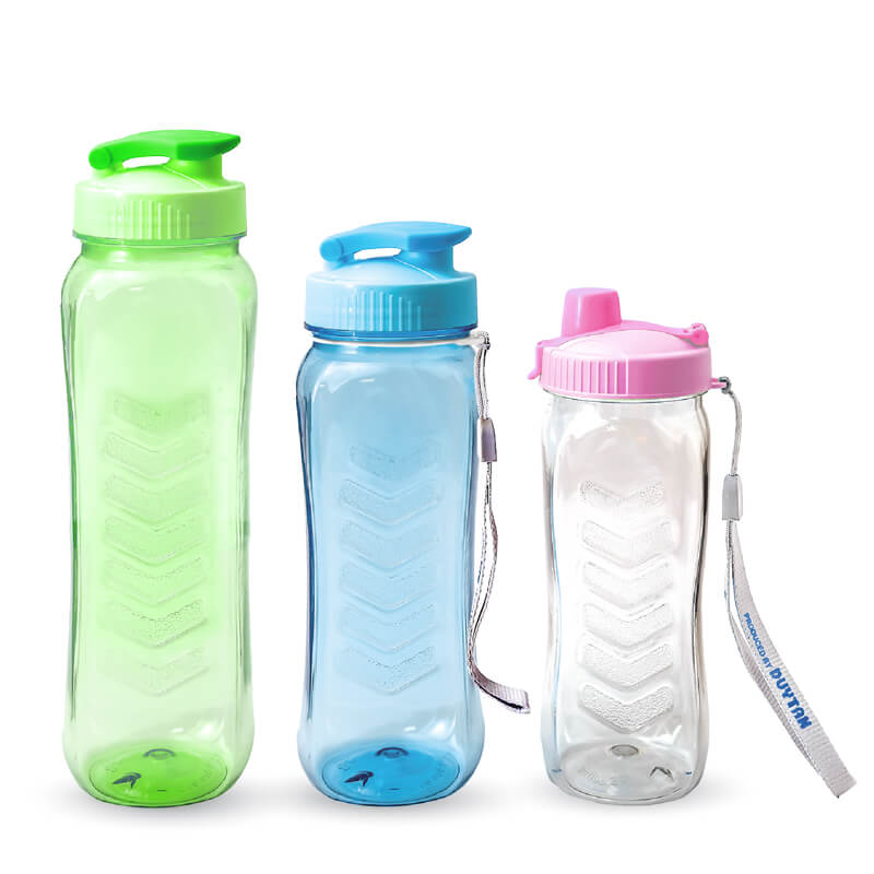 bpa free square PET plastic water bottle, airtight plastic