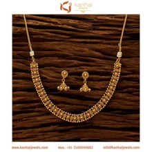 Delicate Gold Plated Jewellery & Necklace Set Wholesalers in Mumbai, Delhi, Chennai & Jaipur, Wholesale Fashion Jewelry - 15654