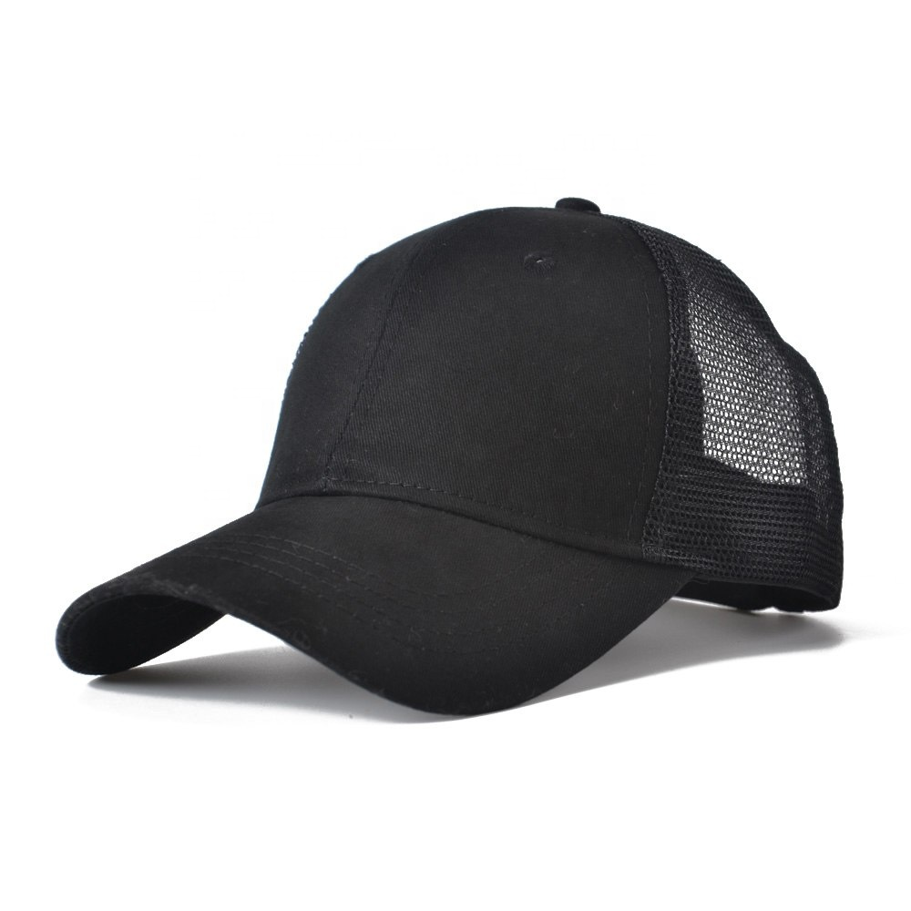 Summer women outdoor sports ponytail baseball blank dad <strong>hat</strong>