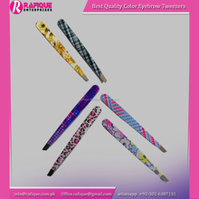 Printed Eyebrow Tweezers/Professional Plucking Removal Eyebrow Tweezers/Top Quality Cosmetic Tweezers