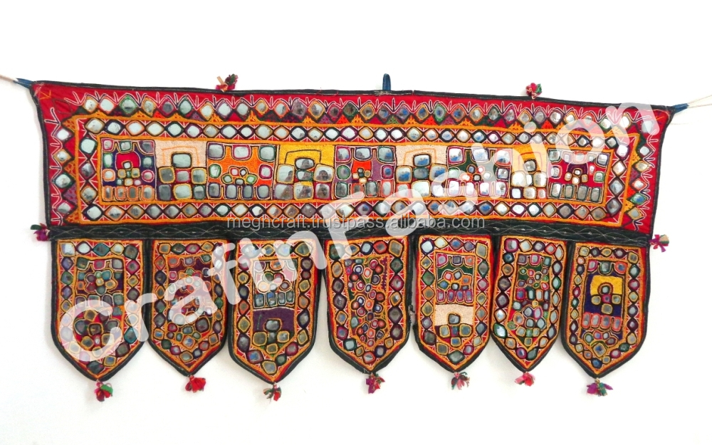 Rabari Banjara Tribel Home Decor -Hand Embroidered Toran Door Hanging- Vintage Bohemian Toran