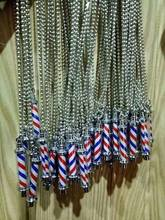 Barber Jewelry / Barber Pole Pendant Necklace