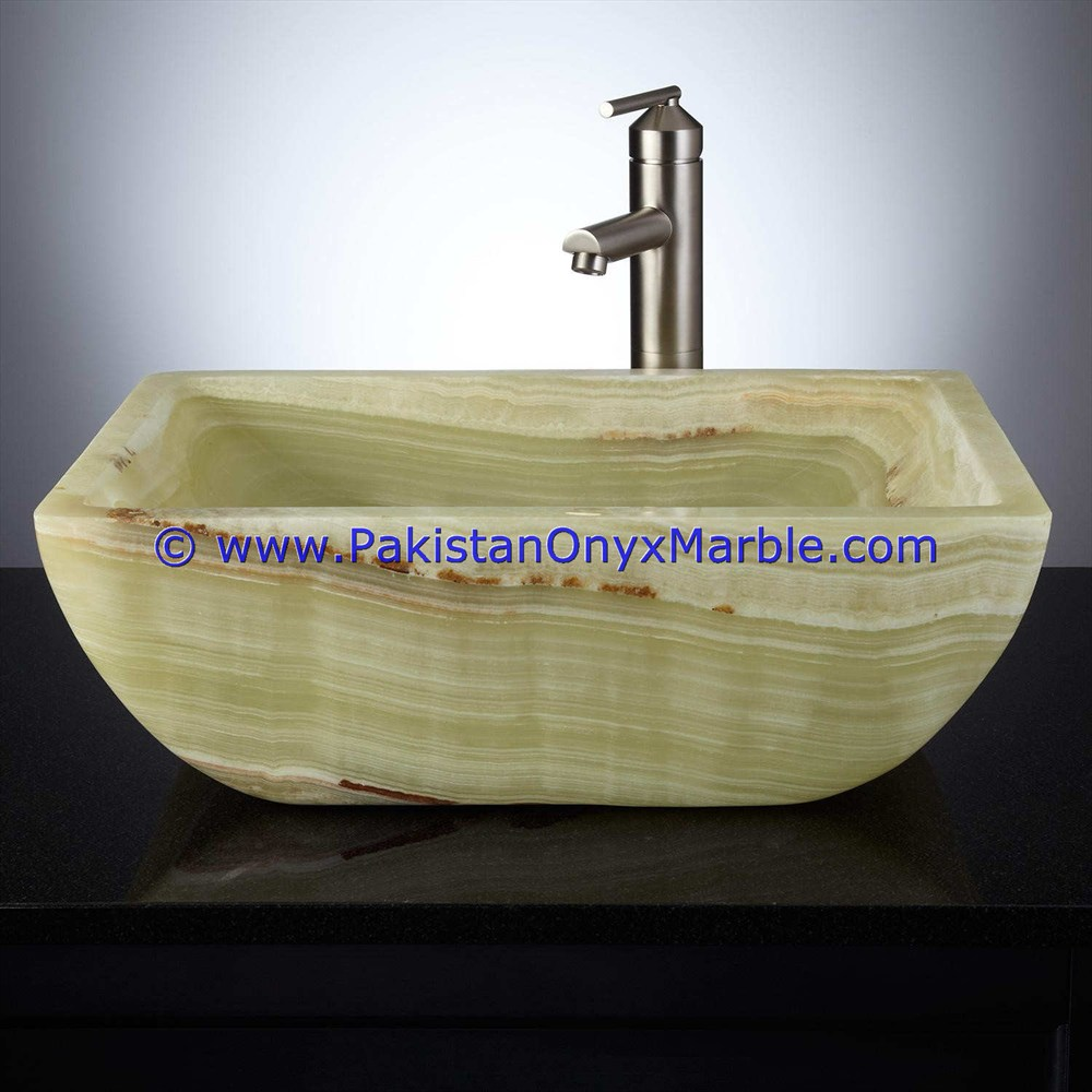 NEW DESIGNS LIGHT GREEN ONYX SINKS BASINS COLLECTIONS IN DIFFERENT SHAPED