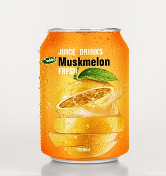 Special Muskmelon juice drink 250ml short can from VietNam