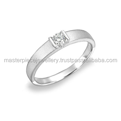 Important 0.102CT 18K white gold Diamond ForeverBonds Exclusive wedding ring promise for guys 3 ct diamonds rings