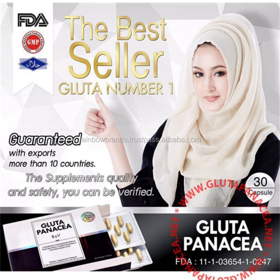 GLUTA PANACEA GLUTATHIONE WHITENING BEAUTY SKIN BLEACHING LIGHTENING ANTI AGING