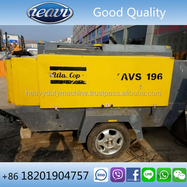 2013 XAVS196DD portable used Atlas Copco air compressor for sale