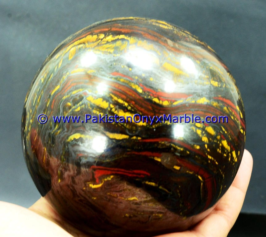 IRON TIGER EYE MULTI COLOR IRON TIGERS EYE SPHERE BALLS