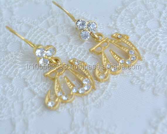 New fashion islamic calligraphy danging earrings