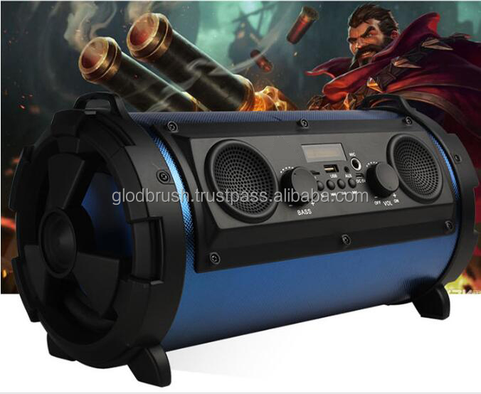 TOP Selling OEM bazooka wireless car subwoofer bass type portable bluetooth speaker
