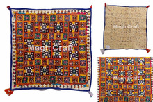 Gujarati Handmade Embroidered chakla-Design embroidery vintage old kutch tapestry design Wall Arts -Handmade Wall Hanging Chakla