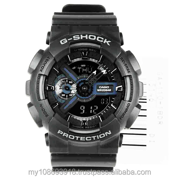 GA-110-1B Black Standart Analog Digital Watch
