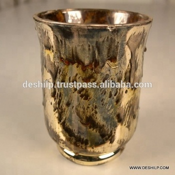 SILVER FLOWER VASE, SILVER GLASS FLOWER VASE , DECORATIVE GLASS FLOWER VASE