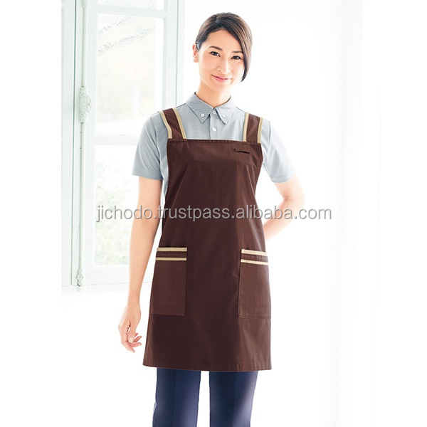 Antistatic T/C twill fabric, short length aprons. Made by Japan