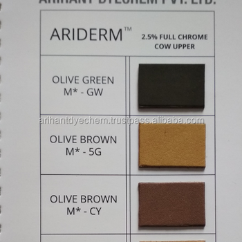 leather dyes available in Brown, Green, yellow colours