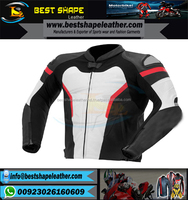 2017 Cheap custom men motorbike textile leather riding jacket