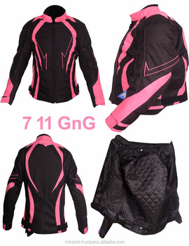 AA Fashion Ladies Motorbike Armoured Textile Cordura Waterproof Jacket for All Season