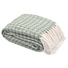 High Quality 100% Cotton CPSC Certified Woven Throw Blanket