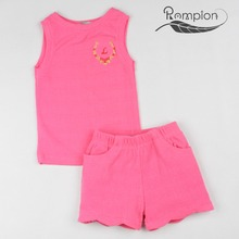 New lovely design embroidered 1-7 years baby girls clothing set bulk wholesale kids clothing
