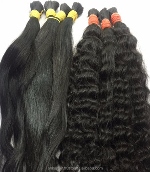 Cabelo Bruto Unico_30cm_Ondulado_100% Cabelo humano natural do Vietname_Single Drawn Bulk Hair_30cm_100% natural Vietname hair