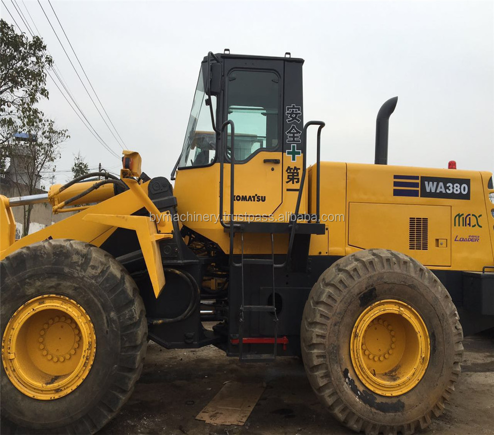 Used Wheel loader WA380 Komatsu WA380-3 with grapple