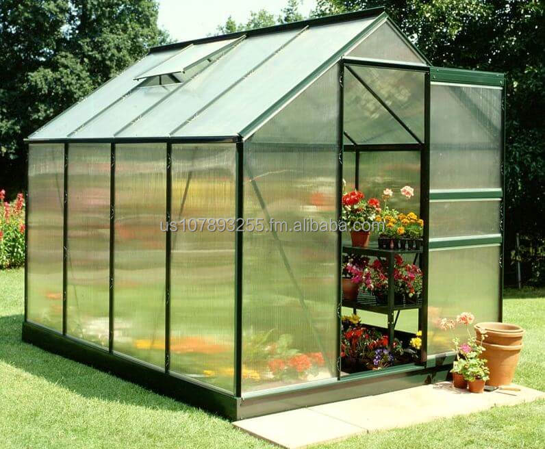 8x6 Green Frame Polycarbonate Greenhouses