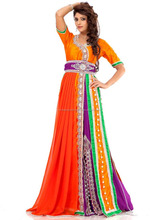 Multi Color Georgette Designer Kaftans / Muslim Wear / Modern Islamic Clothing