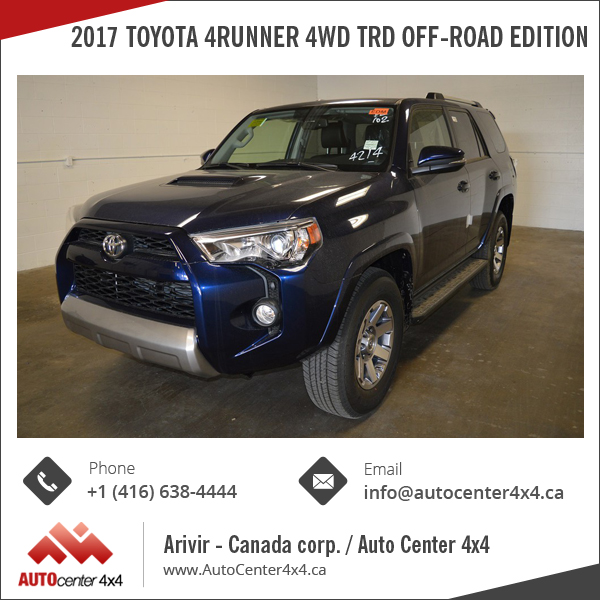 2017 Toyota 4RUNNER 4WD TRD Off-Road Edition