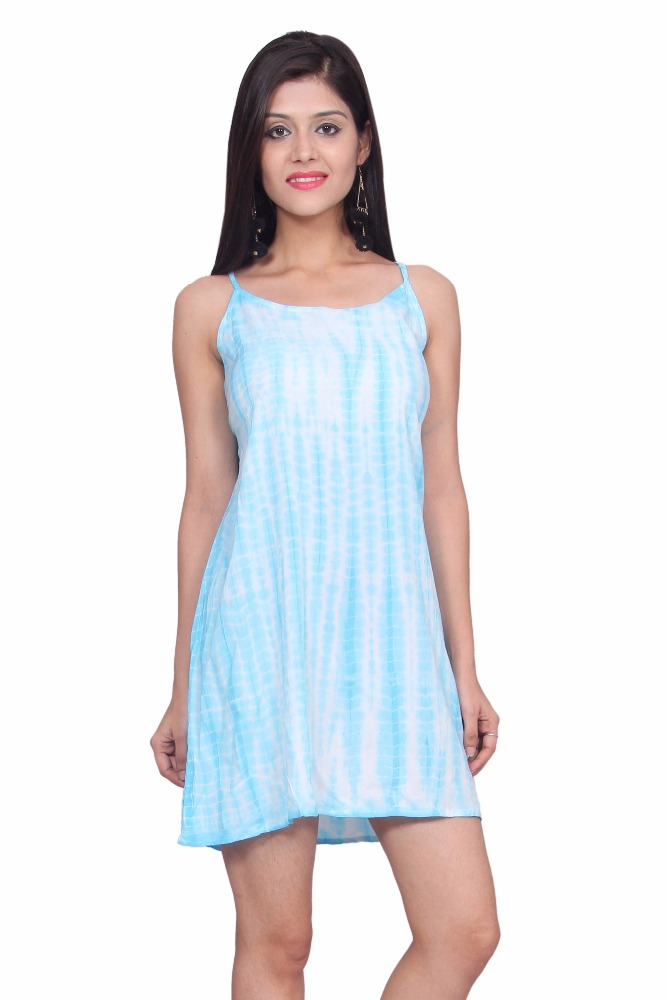 Tie and dye Dress Sky Colour short Tunic Dress
