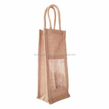 Single and various Chamber Jute Burlap Wine bottle Bag with window
