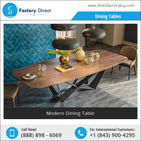 Latest Design Indoor Modern Style Wooden Dining Table and Chairs
