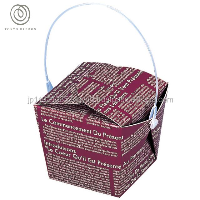 Easy to use and Colorful paper ornament packaging box for wrapping , saten ribbon also available
