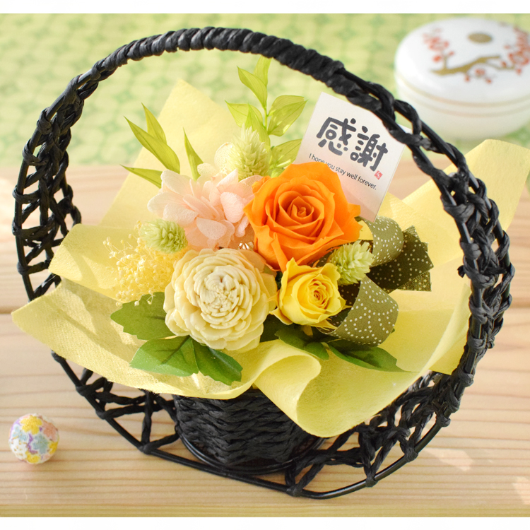 Surprise Gift Width17*Height18*Depth8(cm) Long Life Rose With Basket