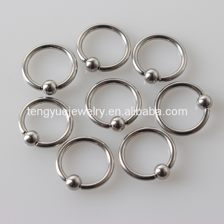 G23 Titanium16g Septum Piercing Nose Ring Closure Nipple Lip Tragus Eyebrow Earring Nose Rings Body Jewelry