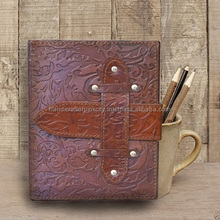 Handmade Leather Book of Shadows Blank Journal, Diary Antique Style Jaipur Made