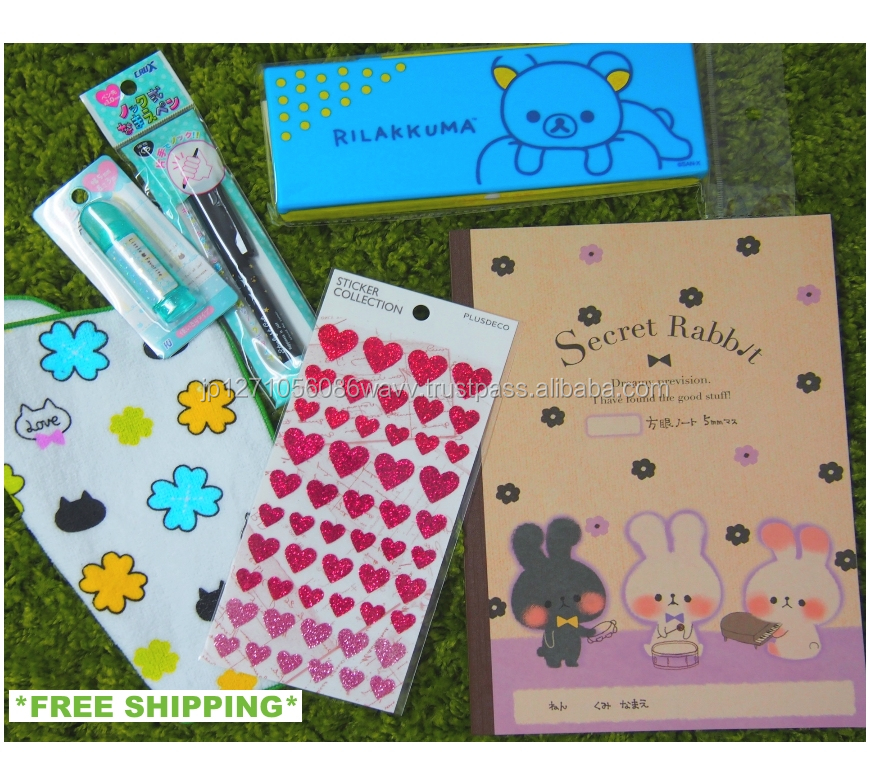 Well packaged cute stationery tools assortment set with 6 selected products