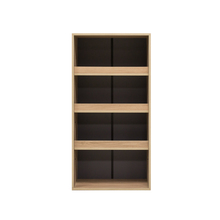 EZBO Living Room Furniture 3 Functions Book Shelf Unit Wine Bottle Display Cabinet Patented MARCHEXPO