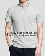 High quality 100% cotton pique men customized blank polo shirt