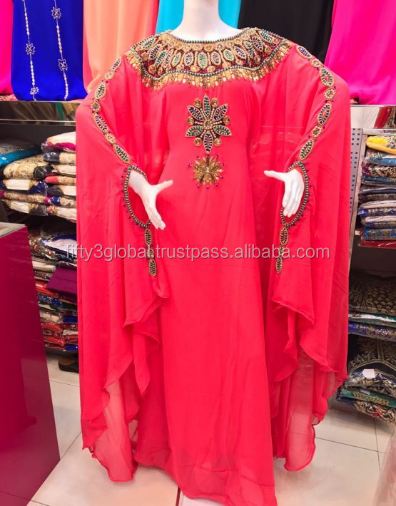 2017 new model Butterfly Farasha Kaftan Pakistani Abaya Style Latest Design Muslim Dress