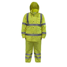Light Weight Waterproof Rain Set Jacket and pants set High Visibility Yellow