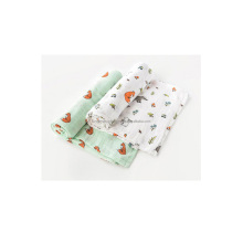 Organic Muslin Baby Swaddle Blanket with Small MOQ