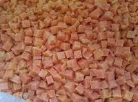 IQF frozen sweet potato dices
