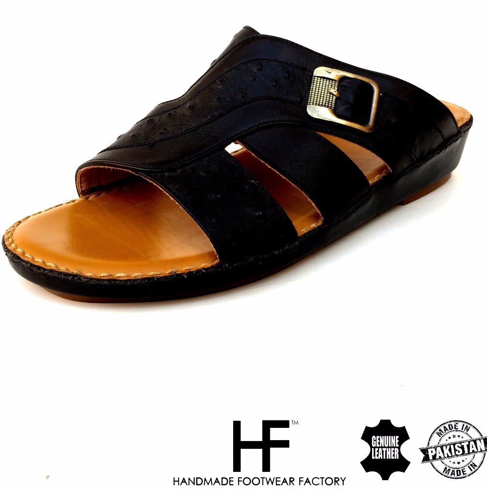 Italian Leather Sandals for men - PU sole - Gulf Footwear - Men shoes - leather shoes - Arabic Sandals