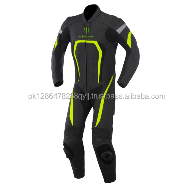 Custom made unique style Motorbike Motorcycle racing genuine cowhide leather Suit CE certified safety protections
