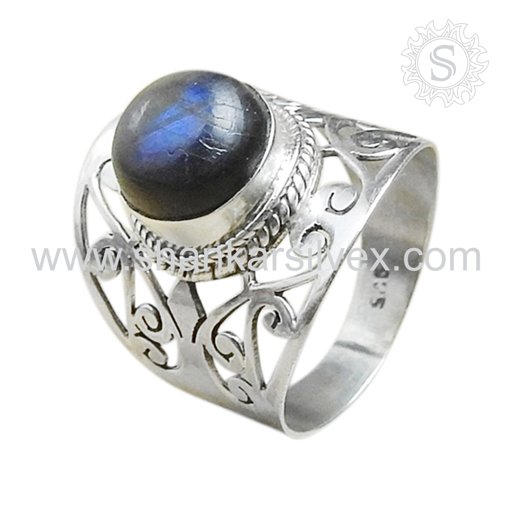 >>>Top sale elegant fashion labradorite handmade silver ring 925 silver ring jewelry wholesale from india