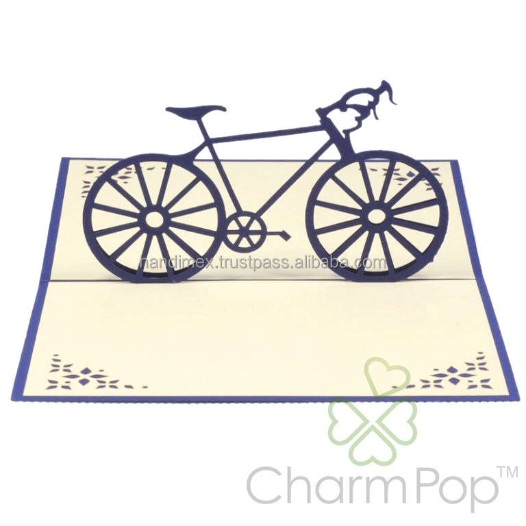 Bicycle happy Father's day pop-up card