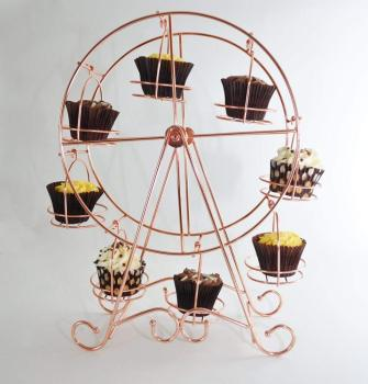 Metal Rotating Ferris Wheel Cupcake and Dessert Holder for Wedding Party,Cupcake Stand