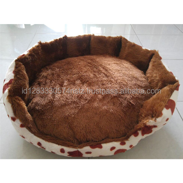 brown pet bed for cat and dog