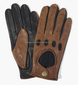 Leather men Winter Driving gloves
