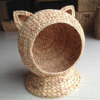 Home basket Vietnam crafts Handmade Best selling Water Hyacinth Cat House , Willow Cat Bed, Straw Pet House